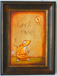 Lunch Time - Art Box Framed Zozoville - Johan Potma.jpg